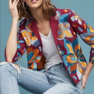 Anthropologie Sz M Embroidered Jacket Ett Twa NEW